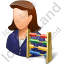 Bookkeeper Female Light Icon