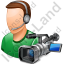 Cameraman Male Light Icon, PNG/ICO, 64x64