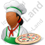 Chef Pizza Female Dark Icon