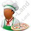 Chef Pizza Male Dark Icon, PNG/ICO, 64x64