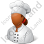 Chef Female Dark Icon, PNG/ICO, 64x64