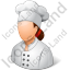 Chef Female Light Icon