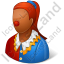 Clown Female Dark Icon