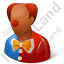 Clown Male Dark Icon