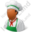 Cook Male Dark Icon, PNG/ICO, 64x64