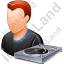 Disc Jockey Male Light Icon, PNG/ICO, 64x64