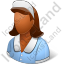 Domestic Worker Female Dark Icon