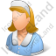 Domestic Worker Female Light Icon
