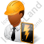 Electrical Engineer Male Dark Icon