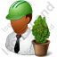 Environmental Engineer Male Dark Icon