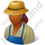 Farmer Female Dark Icon