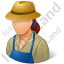 Farmer Female Light Icon, PNG/ICO, 64x64