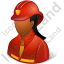 Firefighter Female Dark Icon