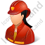 Firefighter Female Light Icon, PNG/ICO, 64x64