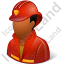 Firefighter Male Dark Icon