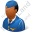 Flight Attendant Male Dark Icon