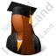 Graduate Female Dark Icon