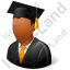 Graduate Male Dark Icon