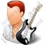 Guitarist Male Light Icon