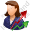 Investor Female Light Icon