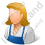 Janitor Female Light Icon