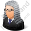 Judge Male Light Icon