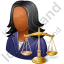 Lawyer Female Dark Icon, PNG/ICO, 64x64