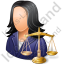 Lawyer Female Light Icon