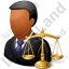 Lawyer Male Dark Icon