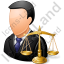 Lawyer Male Light Icon, PNG/ICO, 64x64