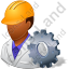 Machine Operator Male Dark Icon