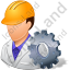 Machine Operator Male Light Icon