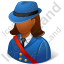 Mail Carrier Female Dark Icon, PNG/ICO, 64x64