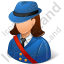 Mail Carrier Female Light Icon, PNG/ICO, 64x64