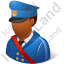 Mail Carrier Male Dark Icon