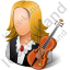 Musician Female Light Icon