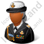 Naval Admiral Female Dark Icon