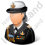 Naval Admiral Female Light Icon