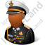 Naval Admiral Male Dark Icon