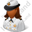 Naval Captain Female Dark Icon