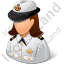 Naval Captain Female Light Icon