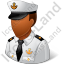 Naval Captain Male Dark Icon