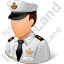Naval Captain Male Light Icon
