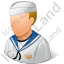 Naval Seaman Male Light Icon