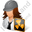 Nuclear Engineer Female Light Icon
