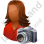 Photographer Female Dark Icon