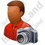 Photographer Male Dark Icon