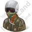 Pilot Military Male Dark Icon