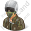Pilot Military Male Light Icon