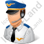 Pilot Male Light Icon